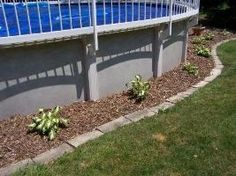 swimming pool landscaping above ground or in ground