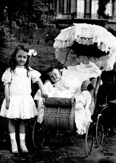 Andree Clark with her little sister, Huguette.