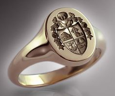 The chief's arms used in this sample signet ring.