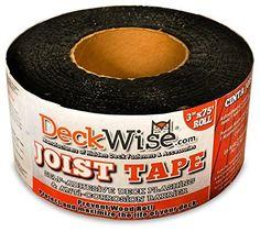 "DeckWise Joist Tape Self Adhesive Deck Flashing 3"" x 75'"