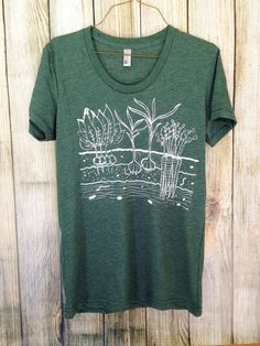 Womens Fitted T Shirt Veggie Garden S M L XL by OneLaneRoad