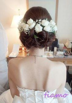 Coiffure mariage : 美人花嫁さまのアップスタイルチェンジで素敵な一日