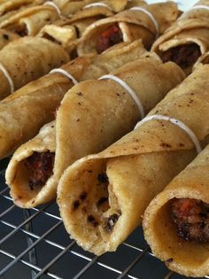 Guatemalan Beef Taquitos. Find recipe in my book Latin American Street Food. Party food!