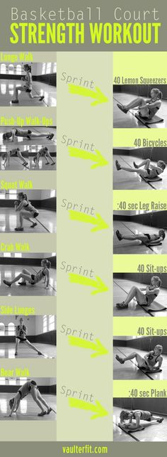 Here's a killer strength workout for those of you looking for a challenge. All you need is a basketball court and a little determination!