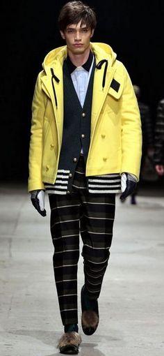Andrea Pompilio FW 13 #Mens #Fashion #Yellow #White #BLACK #2013 #Autumn #Winter