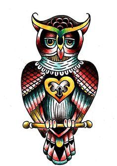 Old School Owl Tattoo Designs Traditional Tattoo Prints, Old School Tattoo Designs, Spiderman, Batman, Owl Tattoo Design, Old And New, Cool Tattoos, Stencils, Superhero