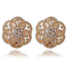 New Arrive AAA Cubic Zircon Wedding  Earrings Women Deluxe Flower Earrings 302 Pieces CZ Allergy Free Low Cadmium & No Lead #Affiliate