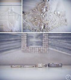 custom bridal hanger and wedding dress details