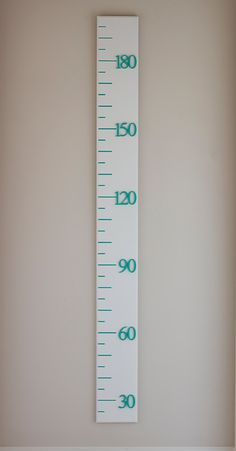 Growth Chart, wooden ruler, metric, satin white, narrow width, range of customizable options available by BanksiaLane on Etsy