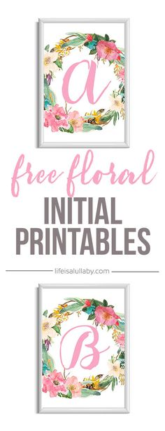 I wanted to share a few of my favorite sources for free printable initial art. Of course, today is Valentine's Day, so any of these would be a perfectlast-minute gift. Just print them out and pop them in a dollar store frame! These are also lovely in nurseries, as hostess or housewarming gifts, or downsized onto a printable gift tag. There are several darling--and free--styles below; just pick your favorite and follow the links to the talented artists and bloggers who've shared them…
