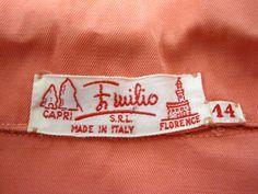 """1950's Emilio Pucci 2 Piece Top and Cigarette Pants Waist 24"""""""