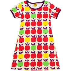 Apple Products for Children Clothes Accessories Toys Scandinavian Baby, Apple Dress, Red Apple, Lifestyle Blog, Dress Skirt, Short Sleeve Dresses, How To Wear, Printed Dresses, Clothes