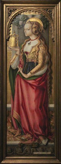 Carlo Crivelli, Mary Magdalene, ca.1480, Rijksmuseum
