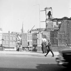 Nuns passing demolition at Dorset Street on the Northside during summer 1964