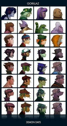 Gorillaz -I think the Teen Titans one is cool. Lol Cyborg and Russel could b like brothers lol                                                                                                                                                                                 More