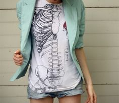 Anatomy shirt. I've really been liking skeleton themes lately, I just can't seem to find them anyway.