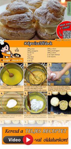 Easy Cake Recipes, Easy Desserts, Baking Recipes, Creamed Spinach Frozen, Cream Puff Recipe, Hungarian Recipes, Italian Recipes, Cream Cheese Recipes, Food Videos