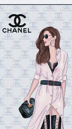 Fashion Artwork, Fashion Wallpaper, Fashion Wall Art, Fashion Prints, Fashion Design, Foto Fashion, Girl Fashion, Moda Chanel, Chanel Wallpapers