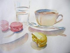 breakfast mac watercolor