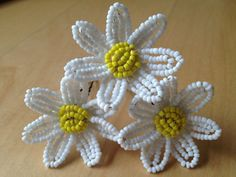 FREE SHIPPING  Daisy French Beaded Flower by FloralUniqueDesign