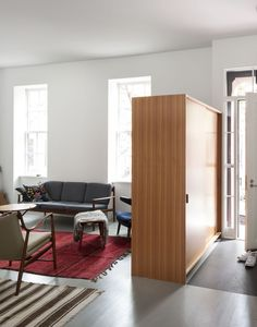 Streamlined, modern renovation. Brooklyn-town-house-remodel-entry-Fernlund-and-Logan-Remodelista