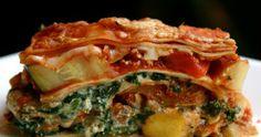 Veggie Recipes, Low Carb Recipes, Vegetarian Recipes, Cooking Recipes, No Boil Lasagna, Veggie Lasagna, Spinach Puff, Frozen Spinach, Pesto Sauce