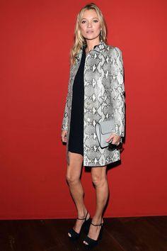 Milano mados savaitė. Gucci kolekcijos pristatymas. Kate Moss.