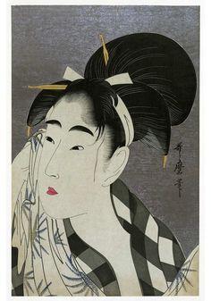 Kitagawa Utamaro (1753–1806) - Ase o fuku onna Woman Wiping Sweat (1798)