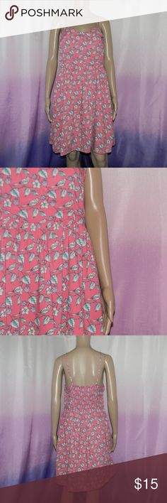 "LC Lauren Conrad Pink Floral Dress Size 12, very good condition, zipper side, elastic back, adjustable straps, pockets, 100% rayon, lining: 100% polyester, 16.5"" bust, 13.3"" waist, 35"" long, worn 3-5 times -Sorry NO TRADES and NO HOLDS -Ships from California -Comes from smoke free, dog friendly homes -I can't model at this time, the mannequin measurements are 32.5"" bust, 24"" waist, 34"" hips, and is 5'10"" and a size S/M -Items are measured by hand and done laying flat LC Lauren Conrad Dresses"
