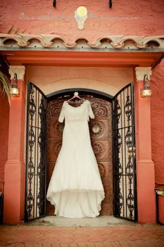Beautiful all lace Spanish inspired wedding gown-  Photographed by- breathtakingmemories.com at Thalatta Estate, Palmetto Bay, FL