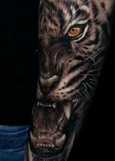 I really fancy the color styles, outlines, and linework. This is certainly a very good art work if you are looking for a Tiger Eyes Tattoo, Cat Tattoo, Tattoo Drawings, Top Tattoos, Large Tattoos, Body Art Tattoos, Samurai Tattoo, Lion Tattoo Sleeves, Sleeve Tattoos
