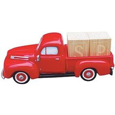 """1948 Ford Pick Up Truck Salt & Pepper Shaker by Sunbelt Gifts. $19.39. 1948 Ford Red Pickup with Salt & Pepper Shaker Blocks. Does your man cave or kitchen table need dressing up! This poly resin pickup truck holds 1 """" block Salt & Pepper Holders"""