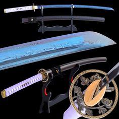 Qiu Folded Blue Steel Katana Samurai Sword