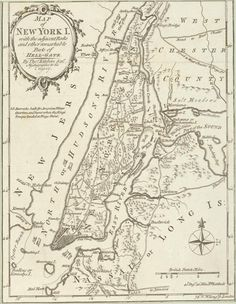Map of New York Island, c. 1778 via The New York Publ