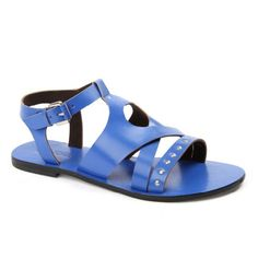 Carla in Blue Leather Sandals, Journey, Blue, Shoes, Women, Fashion, Moda, Zapatos, Shoes Outlet