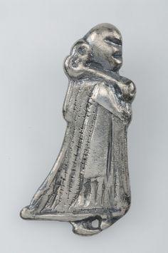 Pendant, valkyrie.  Silver.  Grave find, Björkö, Adelsö, Uppland, Sweden.   SHM 34000:Bj 968    See also kulturarvsdata.se/shm/object/html/108916