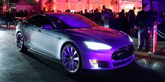 """The Model D Is Tesla's Most Powerful Car Ever, Plus Autopilot. Launched at """"Hawthorne Airport"""" next Space X company of Elon Musk. (Oct.09,2014)"""