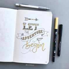"""1,236 Me gusta, 19 comentarios - Kimmy (@bumblebujo) en Instagram: """"Before I made a start on my monthly and weekly spreads in my bujo, I had created a sort of title…"""""""