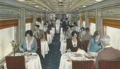 This is a wonderful example of a dining car circa 1920. Joy spent much time traveling on trains and would have eaten her meals in the dining car.