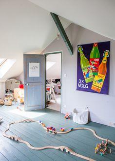 Fun shared room in the attic #sharedroom #kidsroom