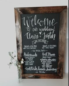 Wedding program chalkboard sign by keeplifesimpledesign on Etsy