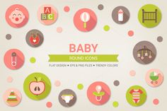 Check out Round baby icons by miumiu on Creative Market
