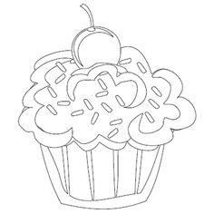 cute cupcakes coloring page : cupcake coloring pages