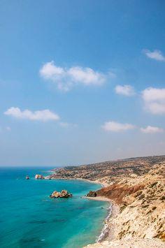 Petra tou Romiou, Paphos, Cyprus, Aphrodite's Rock Cyprus Paphos, Destinations, Dream Trips, Mamma Mia, The Republic, Aphrodite, Petra, Beautiful Beaches, Middle East