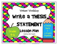 thesis statement lesson plan college