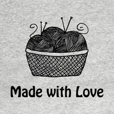 Check out this awesome 'Yarn+-+Made+with+Love' design on @TeePublic!
