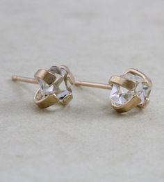 Herkimer Diamond Stud Earrings by Elaine B Jewelry on Scoutmob