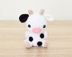 PATTERN: Chloe the Cow - Crochet cow pattern - amigurumi cow pattern - crocheted cow pattern - PDF crochet pattern Crochet Cow, Kawaii Crochet, Cute Crochet, Crochet Dolls, Blanket Crochet, Crotchet, Crochet Animal Patterns, Stuffed Animal Patterns, Crochet Patterns Amigurumi