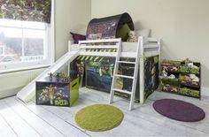 teenage-mutant-ninja-turtles-cabin-bed-with-slide-and-tent-in-tmnt-design-noa and nani