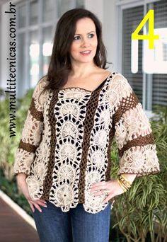 Katia Ribeiro Moda & Decoração Handmade: Peças em Crochê de Grampo da Helen Mareth feitas c...